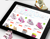 Online Store of Children's Shoes