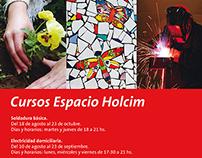 Afiche Cursos Espacio Holcim