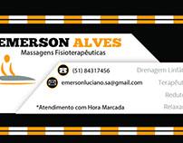 Cartão de visita Massagista Emerson Alves