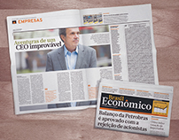 Jornal Brasil Econômico | Algumas páginas de 2013/2014