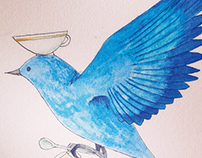 Anniversary exhibition for small bird restaurant