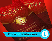 Red Valentines Banquet Flyer Templett
