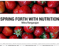 Spring Forth with Nutrition