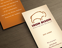 Iron Bison Logo and Business Card