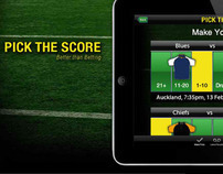 Pick the Score Mobile Site