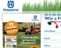 Husqvarna Spring Catalogue Micro Site & Banner Ad