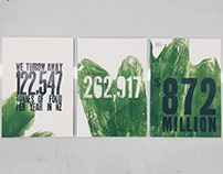 Zero Waste Letterpress Prints