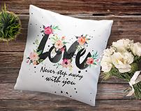 FREEBIE-Printable watercolor flower with love