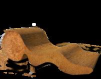 Alentejo the stawbale chaise longue