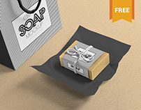 Free Craft Soap Bar Mockup