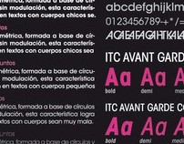 Especimen tipográfico + Postal