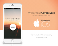 Wilderness Adventures - iOS App Design