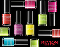 Revlon social media graphics