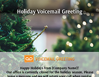 Voicemail greeting samples on behance holiday voicemail greeting sample m4hsunfo