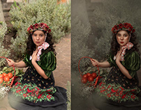 Photo Retouching After Before Woman