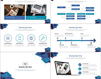 24+ Blue business report chart PowerPoint Template