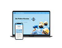 Website Nicolas De Prêtre