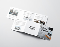 Square Trifold Mockup / 3D Visualization