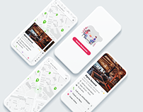 Nearby Restaurants Mobile App UI