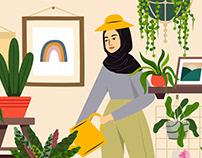 Commision Work // Sherina & Aishah