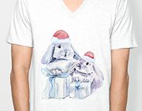 Family of rabbits illustration