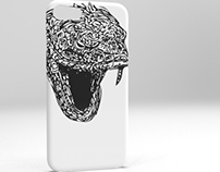 Serpent phone case cover.