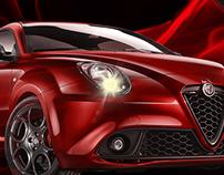 WebSite sketch for Alfa Romeo Mito