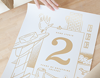 Poster in gold