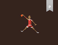 Pixel Art _NBA Historic Players