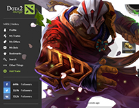 Dota 2 Lounge - Fanmade website redesign