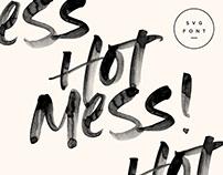 Hot Mess! SVG Font