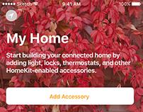 Home app, iOS 10 - start screen in Sketch 3