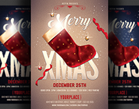 Christmas Psd Party Flyer Template