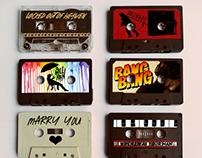 Poster Design - Bruno Mars singles as Cassettes (Merch)