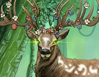 Cerf mythique aux cornes florale - Core of Legends