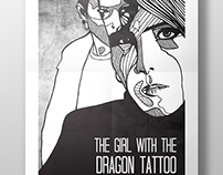 The Girl with the Dragon Tattoo film poster.