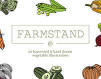 Farmstand Hand Drawn Vegetables