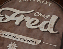 Handpainted signage #2 - CHEZ FRED
