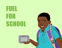 FUEL FOR SCHOOL Illustration by Jolie Brownell