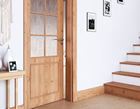 Three interior 3D visualizations