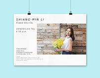 李湘敏畢業音樂會視覺設計 Shiang-Min Li Piano Recutal Visual Design
