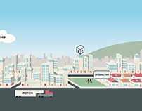 Animated website header concept.