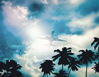 Landing posture airplane