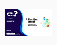 Early whocares.ink site design