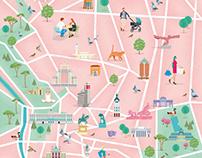 Mapa Ilustrado de Madrid