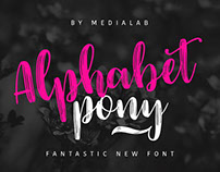 Free Font of the Week - Alphabet Pony