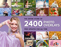 2400+ Photo Overlays Huge Bundle + FREE Updates