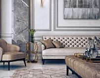 Neoclassic Living Area | Qatar