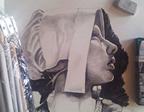 .....charcoal,pencil,water,acrylic.....