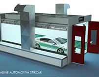 Cabine automotiva 3D Stikcar